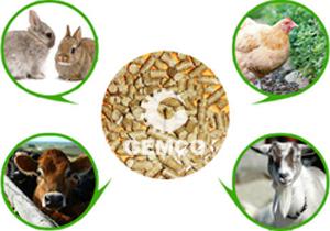 颗粒饲料可用于牛羊猪兔鸡等禽畜养殖中