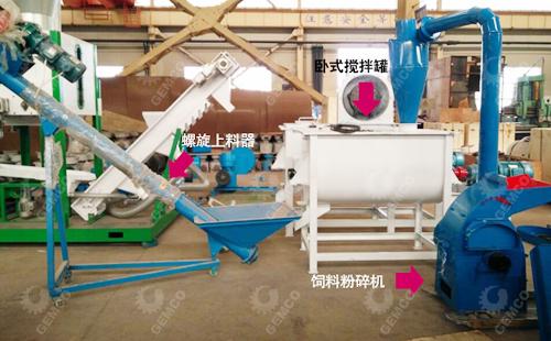 颗粒机辅助设备:粉碎机、上料器、搅拌机