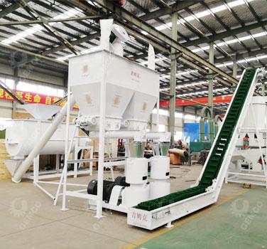 时产2吨饲料颗粒机生产线